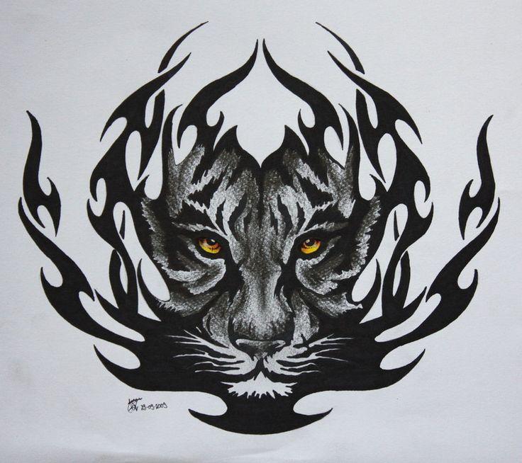Tribal Tiger By Ruttan On Deviantart: 37 Best Tigers Images On Pinterest