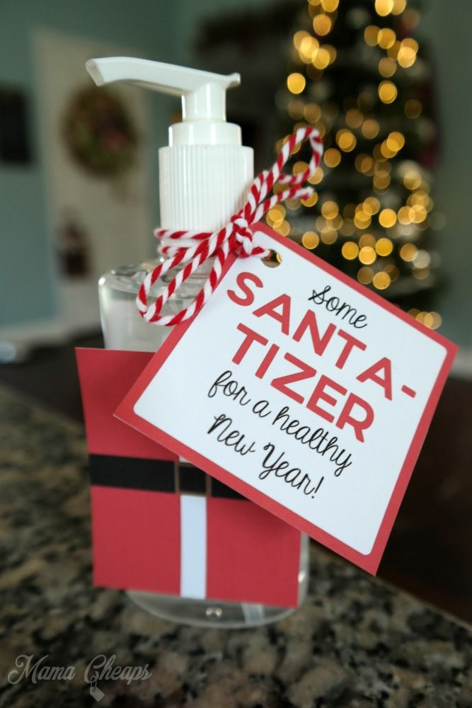 Santa Tizer Hand Sanitizer Easy Christmas Gift Idea Christmas