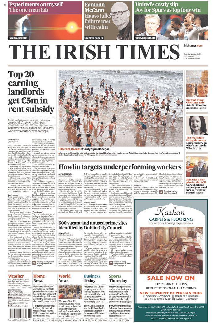 Irish Times, published in Dublin, Ireland