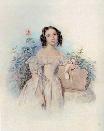 Portrait of Princess Helen Biron von Curland, n_e Meshcherskaya