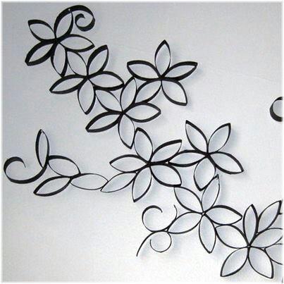 Flores con rollos de papel higienico decoraci n pinterest - Decoracion con rollos de papel higienico ...