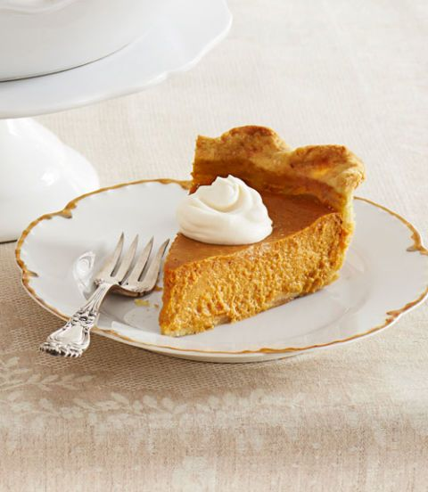 This pumpkin pie and its whipped cream topping are made with a splash of dark rum, making this American classic even more irresistible. If you're using a standard 9-in. pie plate, you'll have about 1 cup of filling left over. Get the recipe for Ultimate Pumpkin Pie with Rum Whipped Cream Get the recipe for Perfect Piecrust
