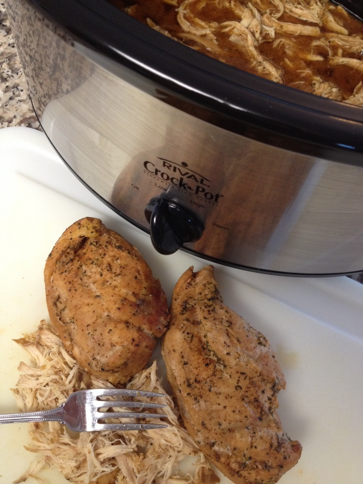 how to cook and shred chicken breast in thermomix