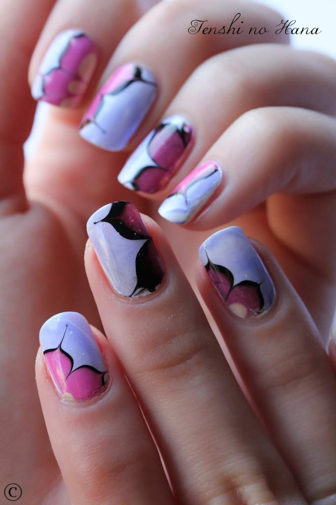 7 best Nail Art - Water Marble images on Pinterest | Nail art ...
