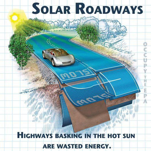 Solar powered roads