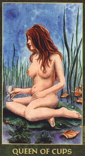 Queen of Cups - Forest Folklore Tarot >>> virtual-fortune-teller.com