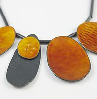 Silver and vitreous enamel unique, handmade necklaces in contemporary designs. Made using traditional techniques in a contemporary style