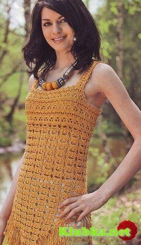 Summer ladies top, crocheted