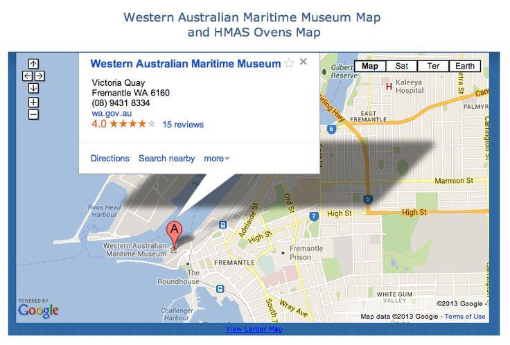 WA Maritime Museum Map - Fremantle, WA