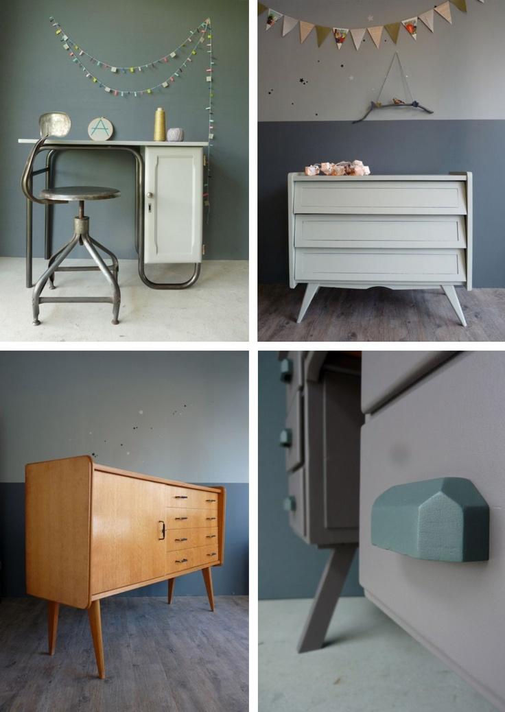 24 best un peu de mobilier vintage images on pinterest child room baby rooms and retro furniture. Black Bedroom Furniture Sets. Home Design Ideas