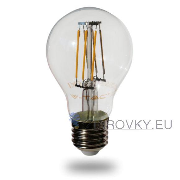 FILAMENT žiarovka - CLASSIC - E27, Denná biela, 6W, 550lm, V-TAC