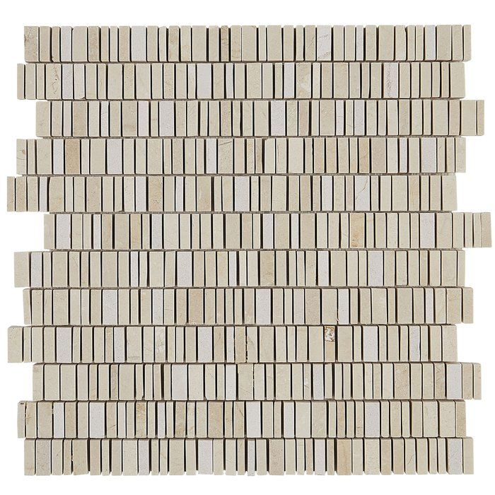 Harrison 12 X 12 Marble Mosaic Tile In Crema Marfil Classico