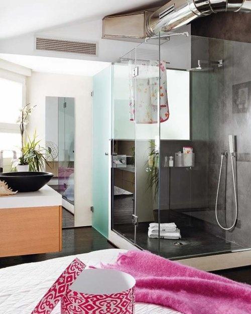 sinks: Modern Bathroom, Apartment Interiors, Loft Apartment, Interiors Design, Dreams Bathroom, Glasses Shower, Bathroom Ideas, Contemporary Bathroom, Frostings Glasses