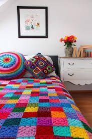 Αποτέλεσμα εικόνας για colchas de crochê coloridas