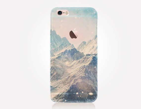Mountains Clear Phone Case iPhone 8 8 Plus X iPhone 7 Plus