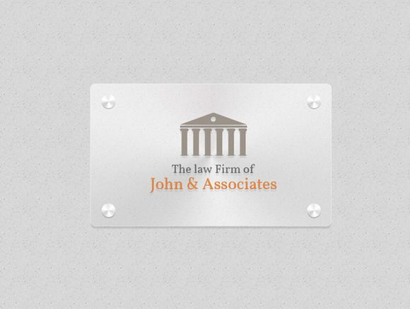Law Firm Logo Template by Saptarang on @creativemarket