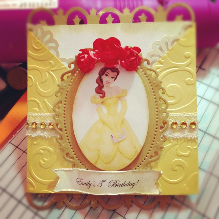 Belle invite created by me for my daughters 3rd Birthday :)
