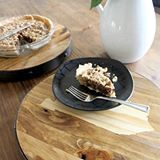 It's derby pie. On a Kentucky plate. Get it? Kentucky derby. Yes, In case you were wondering, I made a pie specifically for staging this project with it. Definitely worth it. 🍰 (there's no pie emoji?? What?!) #DIY #diyblogger #sneakpeek #woodworking #kentucky #derby #pie #farmhouse #minwax #diyanddecorate #makeandtell #maker