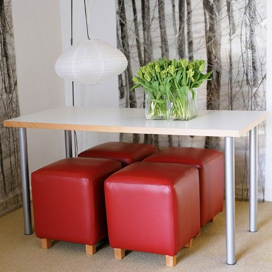 57 best small dining room images on pinterest small dining rooms home and dining nook - Small dining room storage ...