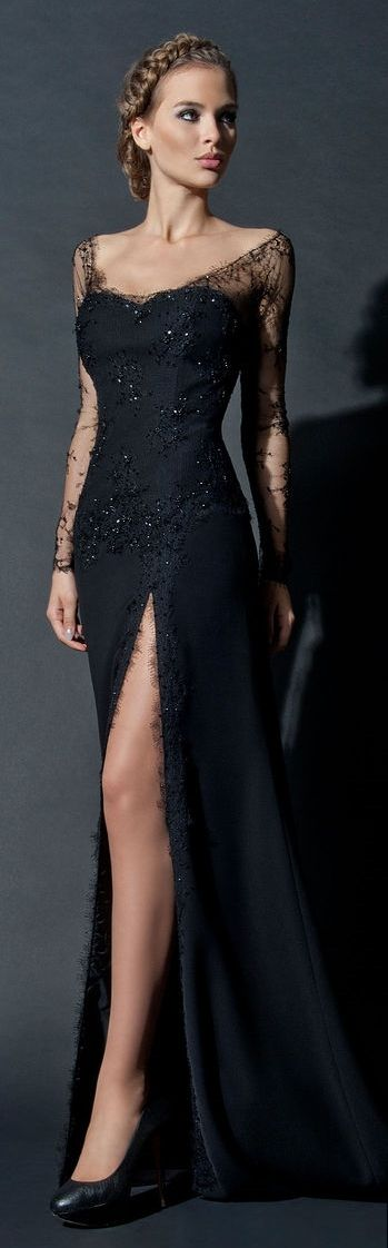 Black Evening Gown: