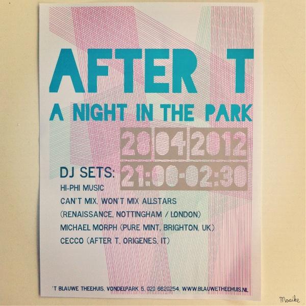 Wat: Poster evenement  Opdrachtgever: 't Blauwe Theehuis  Jaar: 2012
