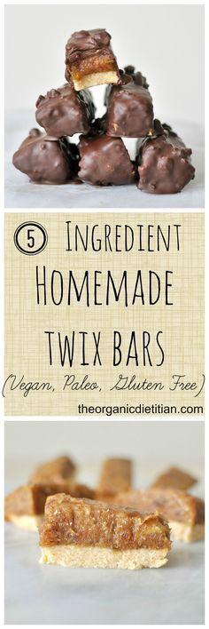 5 ingredient homemade twix #glutenfree #vegan #paleo