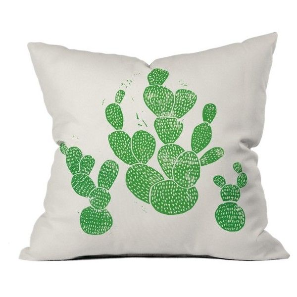 Deny Designs Green Cacti Pillow ($45) ❤ liked on Polyvore featuring home, home decor, throw pillows, green, green home accessories, southwestern throw pillows, deny designs home accessories, deny designs throw pillows and green accent pillows