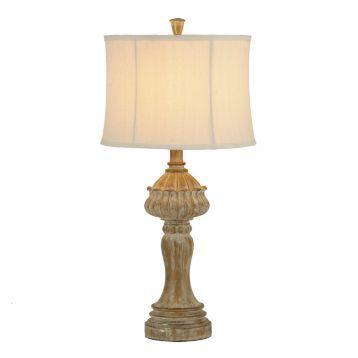 Distressed Natural Table Lamp $40 Kirklands