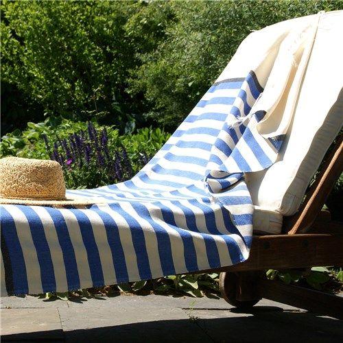 Barek Stripe Fouta Blue Towel