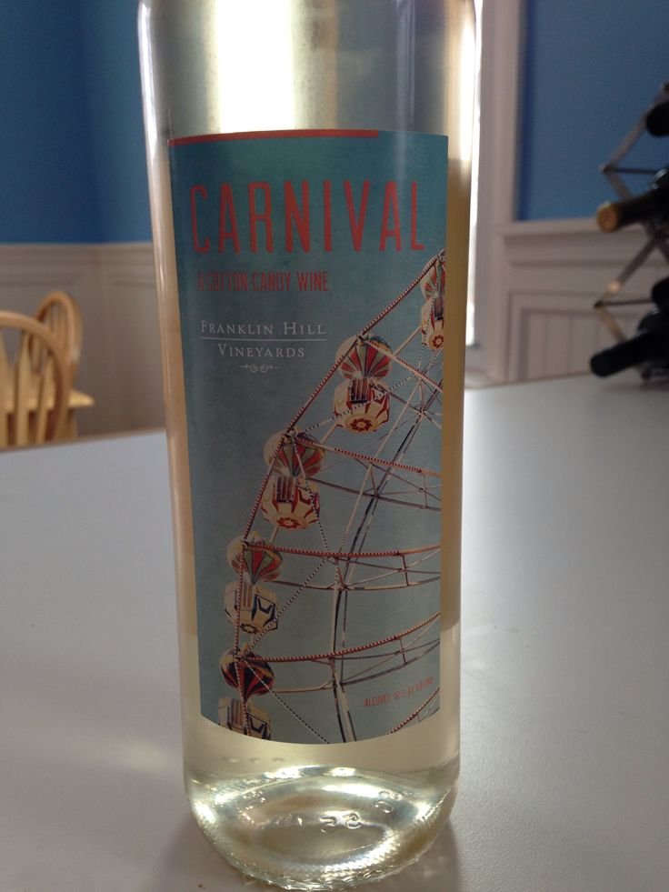 Carnival a cotton candy infused wine! It tastes like just ...