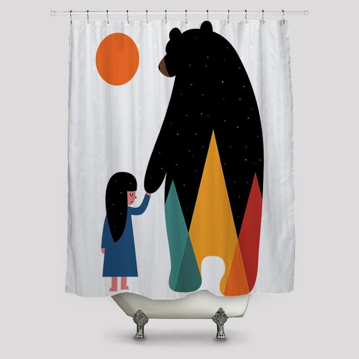 Play with Me Mr Bear Shower Curtains