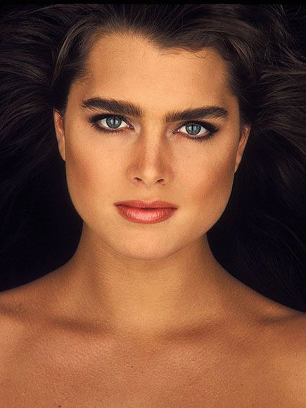 1980s photo |  BROOKE SHIELDS  Nothing came between stardom and Shields in the '80s. A former child model and star, Shields's striking beauty and trademark brows made her a favorite of designers, magazine editors and directors alike. From frolicking semi-nude in The Blue Lagoon to slipping on skintight Calvins, Shields seduced a nation with her mix of innocence and sexuality, leading Time magazine to name her the Face of the '80s.
