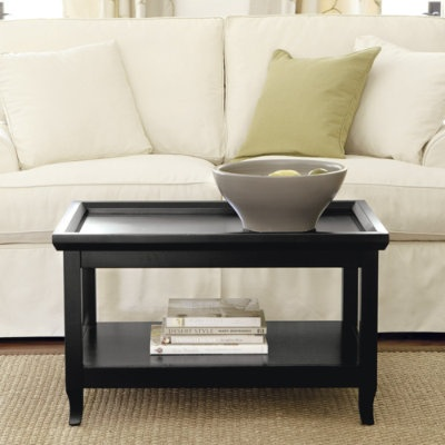 small coffee table rubbed black-ballard designs