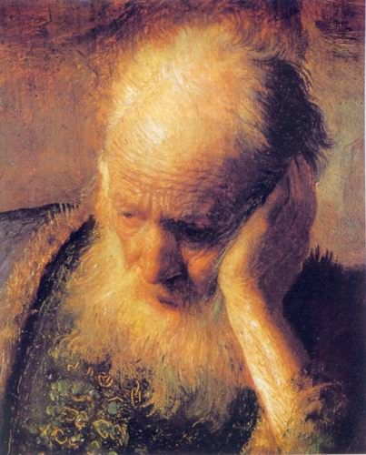 Rembrandt paintings of The Prophet Jeremiah Mourning over the Destruction by