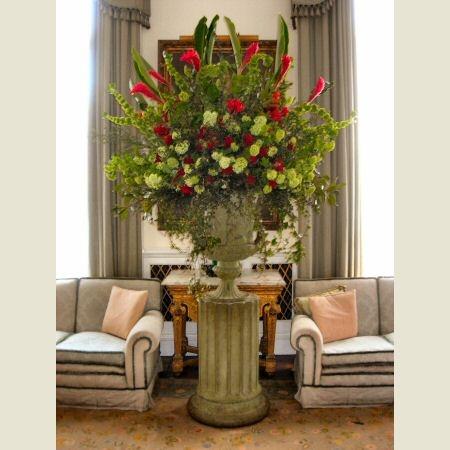 Image detail for -Flower arrangement in a large medici urn