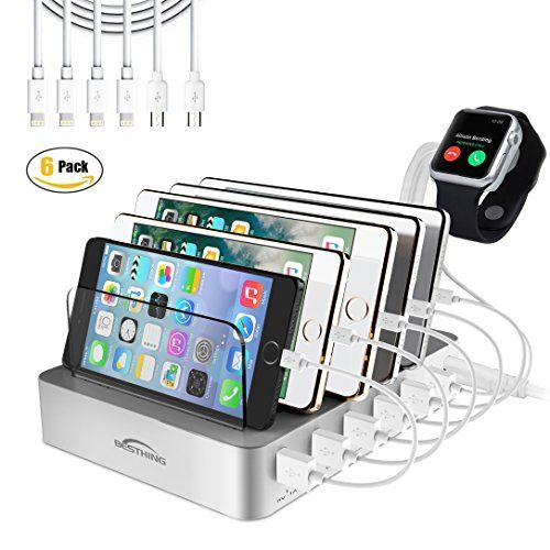BESTHING 6-Port 10A Universal USB Charging Station Dock with Innovative Removable Baffles Organizer for Smart Phones & Tablets (Charging Cable Included)  https://topcellulardeals.com/product/besthing-6-port-10a-universal-usb-charging-station-dock-with-innovative-removable-baffles-organizer-for-smart-phones-tablets-charging-cable-included/  ✅ SPACE SAVING – BESTHING 6-Port USB Charging Station Dock charges 6 devices at once and holds them in place while they j