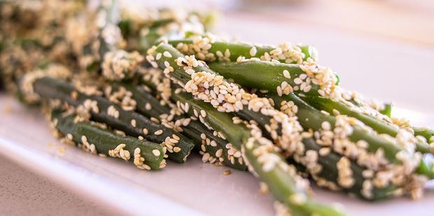 Looking for something different to pair your Sunday roast with? Look no further than our tasty green beans with sesame seeds...  #recipe #glutenfree #dairyfree #UnimedLiving