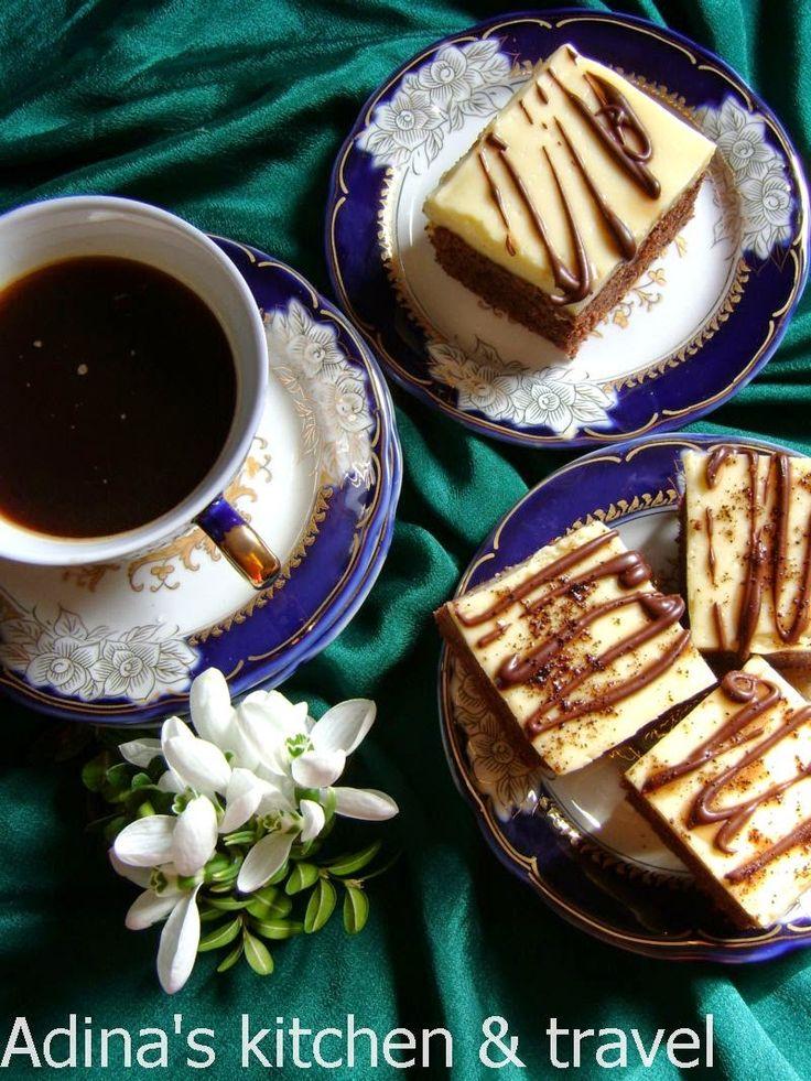 Negresa cu cafea si crema de vanilie