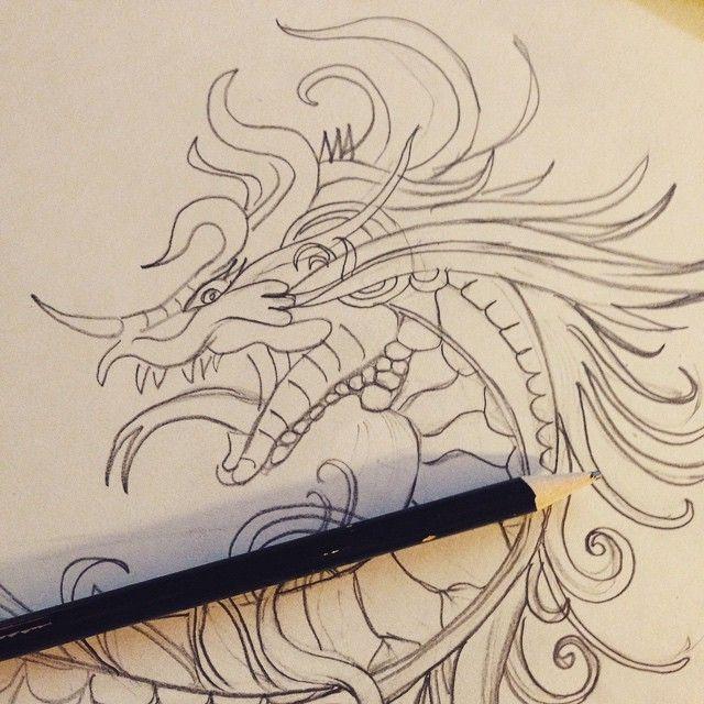 Промахнуться гораздо сложнее , чем попасть в цель ! Надеюсь , это будет отличный эскиз тату для девушки .. Для девушки с татуировкой дракона ! #дракон #татуировка #девушкастатуировкойдракона #draw #sketch #dragon #tattoo #dragontattoo #juliagrad #ink #head #pencil