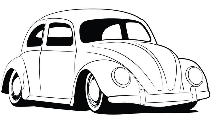 Line Drawing Vehicles : Love bug coloring pages vw drawings http
