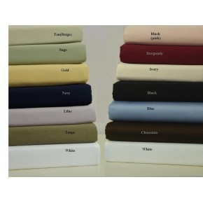 1000-TC Solid Sheet Set Chocolate Egyptian Cotton - FREE SHIPPING!