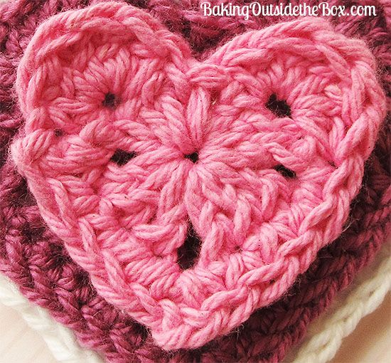 """For all the hearts I used 4 ply yarn and a size G hook (USA) although you can use any size hook and yarn or thread to obtain the size you desire. The smallest heart is about 2 1/4"""" across. Medium is about 3 1/4 and Large is about 4 1/2"""".  All measurements are …"""