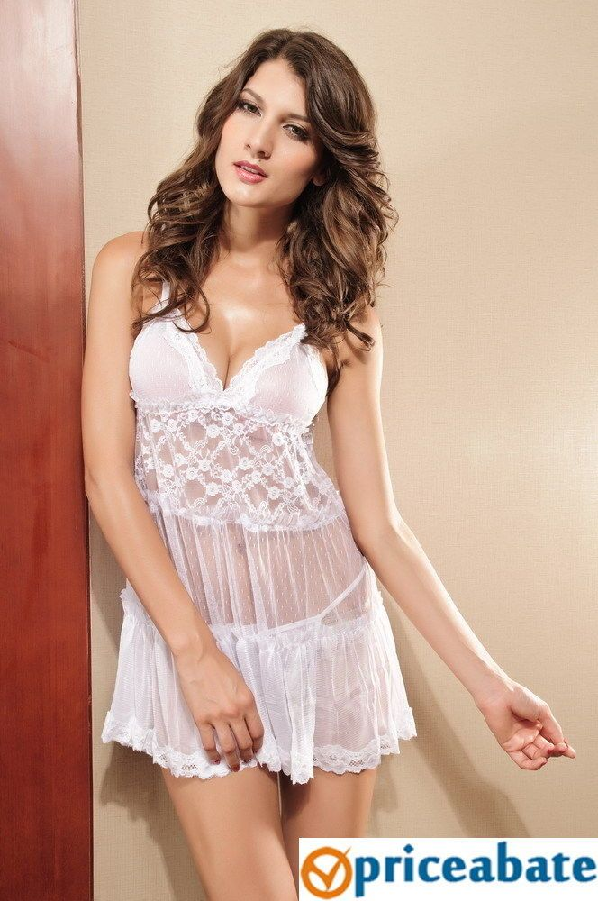 Priceabate White Tiered Babydoll #Unbranded #BabydollChemise