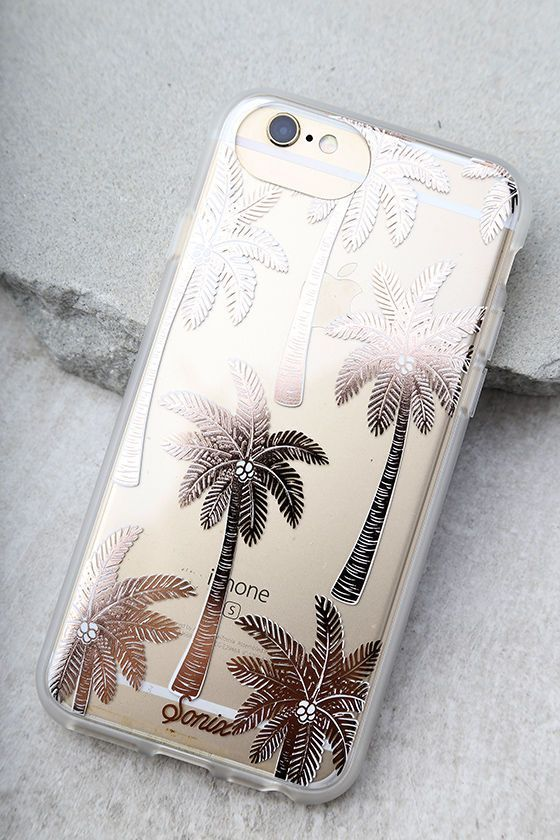 Make your device your best accessory with the Sonix Vintage Palm Rose Gold Print iPhone 7 Case! This clear plastic case has a rose gold palm print, plus shock-absorbent rubber sides, and access to all ports. Fits iPhone 7.