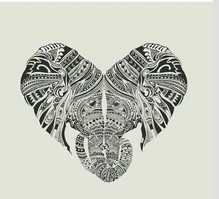 "Elephant Mandala Tattoo Tattoos T Tatuajes Elefantes Y: Elephant Heart Heads ""tattoo"""
