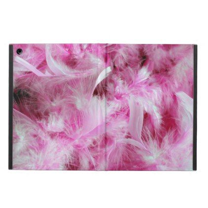 gold glitter pink feathers drinking woman case for iPad air - pink gifts style ideas cyo unique