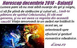 Horoscop Balanţă decembrie 2016
