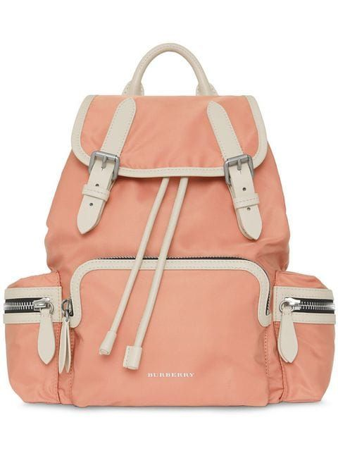 512e84cdb90fb Shop Burberry The Medium Rucksack in Technical Nylon and Leather
