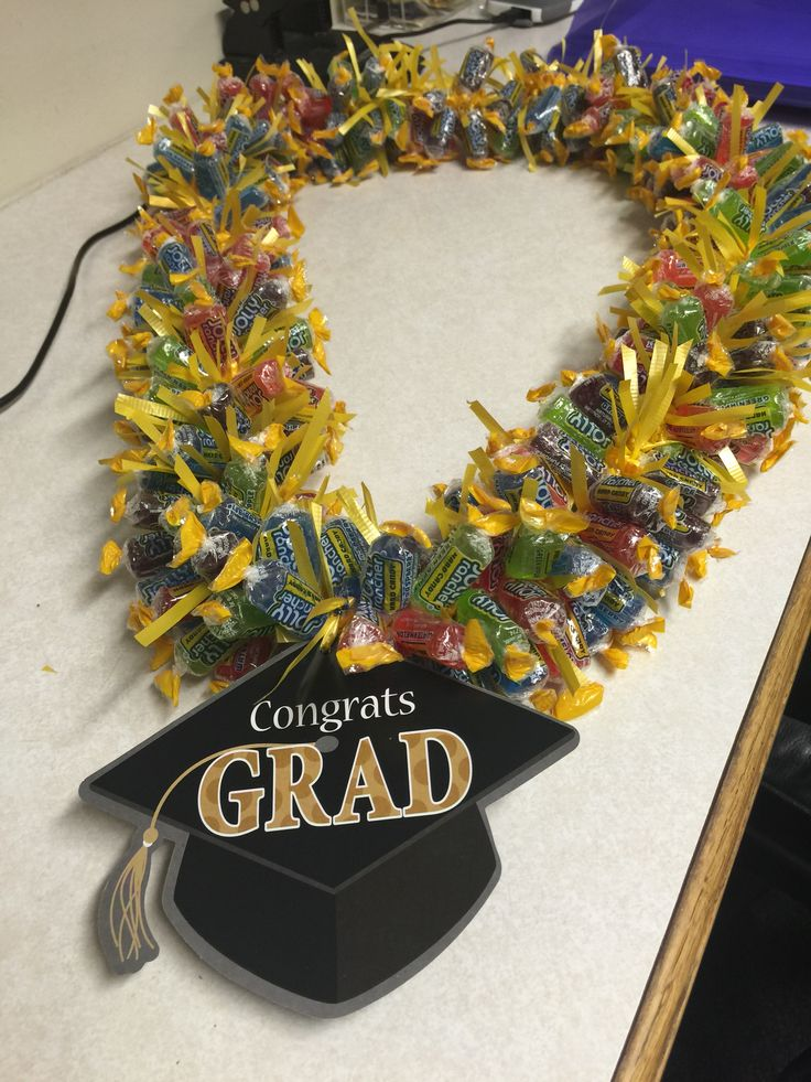 Graduation leis, Jolly rancher and Leis on Pinterest