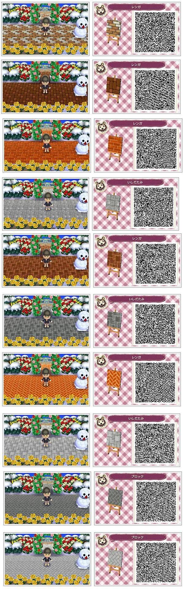 die besten 17 bilder zu animal crossing new leaf qr codes wege auf pinterest animal crossing. Black Bedroom Furniture Sets. Home Design Ideas